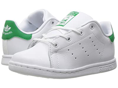 adidas Originals Kids Stan Smith (Toddler) (Footwear White/Footwear White/Green) Kids Shoes