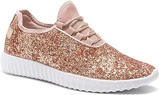 Women's Moniqie Glitter Flat Heel, Glitter Details, Front Lace up,Fashion Sneaker