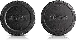 Ares Foto Set: Funda y tapa del objetivo • Funda protectora para cámaras Micro Four Thirds (M 4/3): Panasonic Lumix DC-GH5S DC-G9 DC-GX850 DC-GH5 DMC-G85 / G80 Olympus PEN E-PL8 OM-E E-M1 Mark II PEN-F etc.