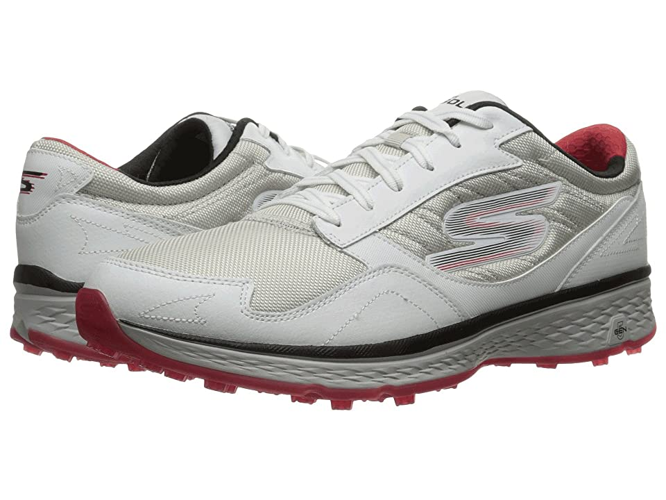 SKECHERS Go Golf Fairway (White/Black/Red) Men