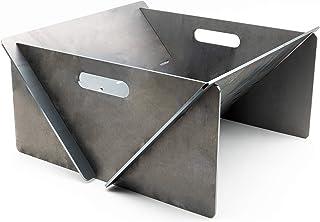 MaTaDa Feuerschale I Feuerstelle 40 x 40 cm Outdoor - Stecksystem aus massiven 4mm Stahl