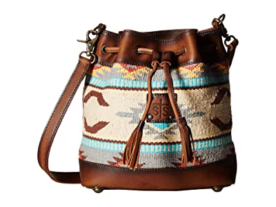 STS Ranchwear The Classic Bucket Bag (Tornado Brown/Sedona Serape) Handbags