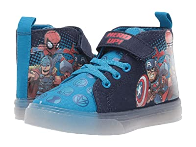 Favorite Characters Avengerstm Lighted Hi-Top Canvas AVF705 (Toddler/Little Kids) (Blue) Boy