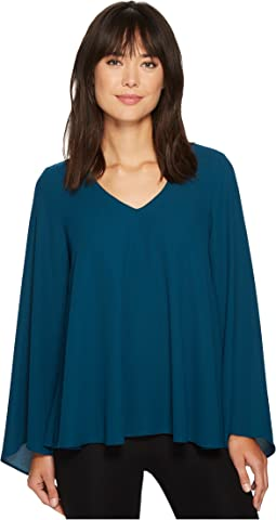Karen Kane - V-Neck Flare Sleeve Top