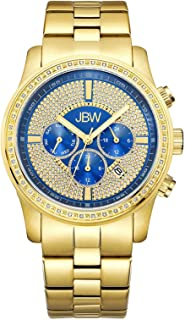 JBW Luxury Men's Vanquish 42 Diamonds Encrusted Bezel Watch