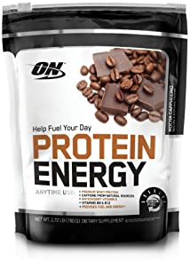 Optimum Nutrition Protein Energy Supplement, Mocha Cappuccino, 1.72 Pound