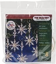 "Beadery Holiday Beaded Ornament Kit-Snow Crystal Danglers 4/""X2/"" Makes 8"