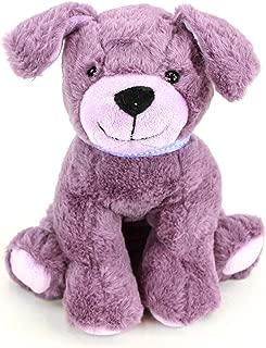 "Gitzy 8"" Purple Puppy Stuffed Dog Plush Toy Super Soft Cute Stuffed Animals Dog for Girls Boys Toddlers Kids"