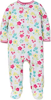 Little Me Baby Girls Light-Weight Soft Zipper Footie Pajamas Footed Sleeper 12-24 mths
