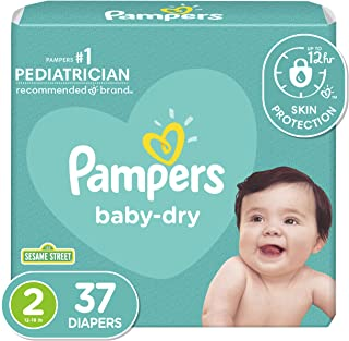 Pampers Baby Dry, Diapers, Size 2, 37 Count