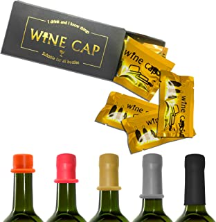 Wine Beverage Bottle Stopper Wine Cap Condom Shape Reusable Wine Lid Keep Fresh Wine Saver Cork Party Wine Accessory Novelty Gifts Set of 10 PCS