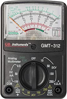 Gardner Bender GMT-312  Analog Multimeter, 5 Function / 12 Range, 300V AC/DC, for AC / DC Voltage & Current, Resistance, Continuity & Batteries