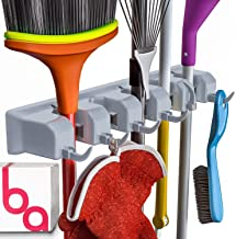 Berry Ave Broom Holder Wall Mount and Garden Tool Organizer, Closet Storage, Kitchen..
