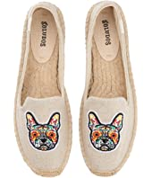 Frenchie Embroidered Platform Smoking Slipper