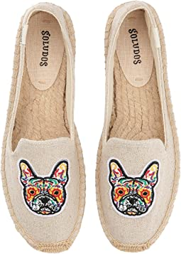 Soludos - Frenchie Embroidered Platform Smoking Slipper