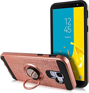 Galaxy J6 2018 Case, Magnet Mount Ready Hybrid Phone Case w/Kickstand, Shockproof Cover for Samsung Galaxy J6 2018 (Rose)
