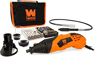 WEN 23114 1.4-Amp High-Powered Variable Speed Rotary Tool with Cutting Guide, LED Collar, 100+ Accessories, Carrying Case ...