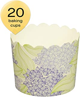 Simply Baked CLG-136 Disposable Paper Baking Cups Large Periwinkle Floral