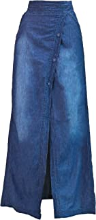 loose denim skirt