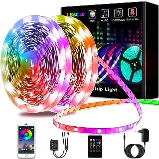 Ruban LED 20M, L8star LED Ruban Intelligent led chambre 5050 RGB SMD Multicolore Décorative Bande LED Lumineuse avec Téléc...