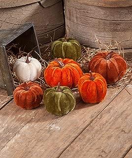 handmade velvet pumpkins