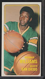 1970-1971 Topps Bernie Williams Clippers Rookie Basketball Card #122