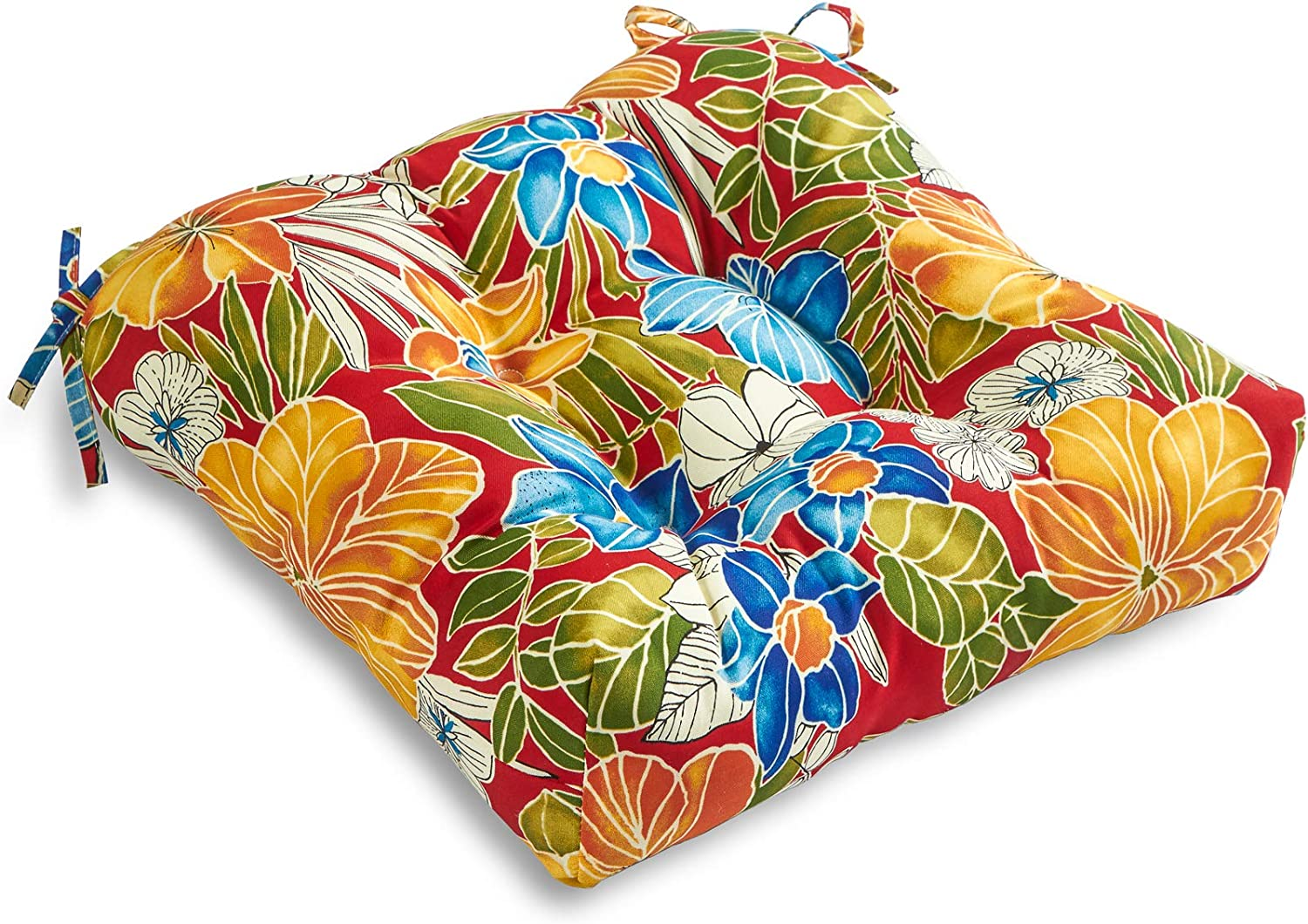South Pine Porch Outdoor Aloha Save money Red Seat Max 43% OFF 20-inch Cushion Floral