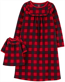 Girls' 4-14 Jersey Gown and Doll Dress Set