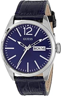 Guess Men's Analogue Quartz Watch With Leather Strap W0658G1