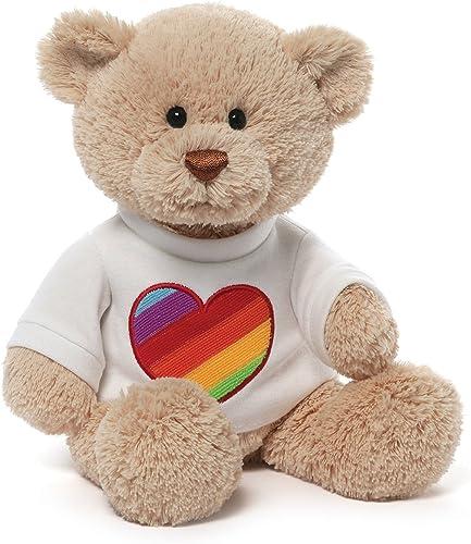 echa un vistazo a los más baratos Gund Rainbow Heart T-Shirt Bear by GUND GUND GUND  buena calidad