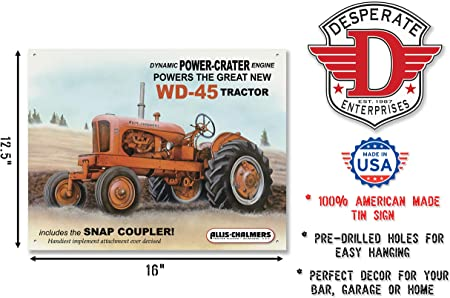 USA classic ALLIS-CHALMERS tractor division MILWAUKEE retro TIN SIGN