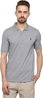 LEVIZO Men's Half Sleeves Plain Polo Collar Cotton T-Shirts