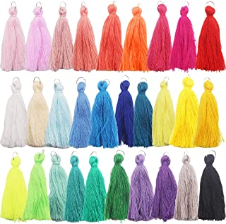 Handmade DIY Tassels 29Pcs Multicolored Mini Tassels for Earring Jewelry Making,DIY Craft Accessory (2 Inches)