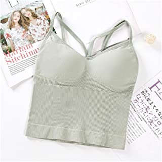 Women Sports Bra Tops Solid Padded Fitness Yoga Running Cropped Top Women Sports Wear Gym Solid Tank Tops Athletic Push Up...