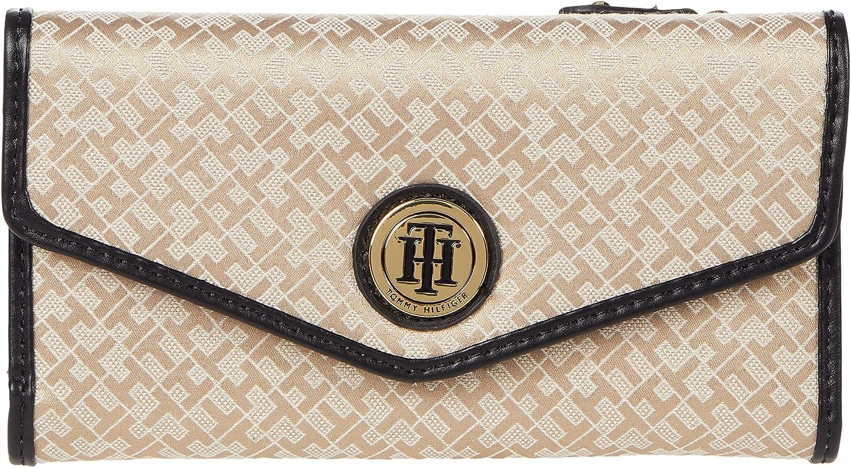 Tommy Hilfiger Large-Continental Envelope Wallet-Mini Geometric Jacquard