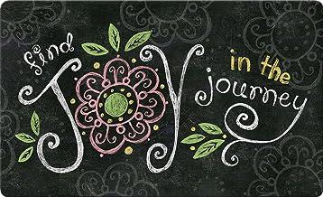 Toland Home Garden Joy in The Journey Chalkboard 18 x 30 Inch Decorative Floor Mat Inspirational Doormat