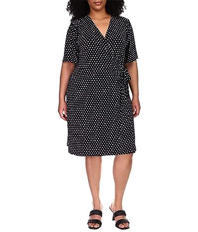 MICHAEL Michael Kors Plus Size Dot Ring Faux Wrap Dress Women