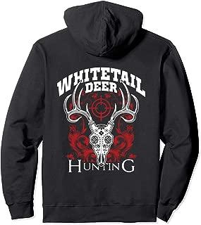 Whitetail Deer Hunting Sugar Skull Buck Hunter Gift Pullover Hoodie