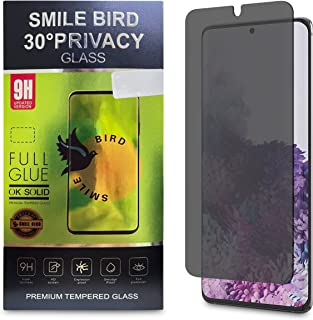 SMILE BIRD Galaxy S10 Plus, S20, S20 Plus Privacy Screen Protector, Tempered Glass of Galaxy [3D Curve] Anti-spy Tempered ...