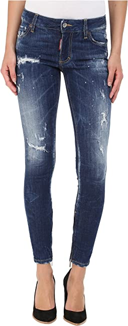 DSQUARED2 - Perfetto Wash Medium Waist Skinny Jeans in Blue