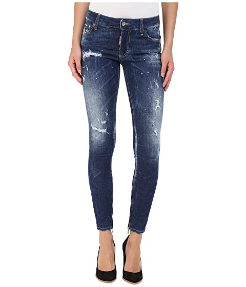 DSQUARED2 Perfetto Wash Medium Waist Skinny Jeans in Blue