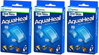 Spenco 2nd Skin Aquaheal Hydrogel Bandages,  Medical Mixed Size 6-Count,  3 Pack Bundle