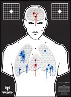 Threat Down Bleeding Targets - Reactive Target - Shooting Target - Reactive Splatter Target - Targets for Shooting