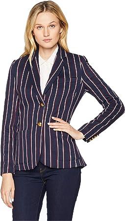 Petite Striped Jacquard Blazer