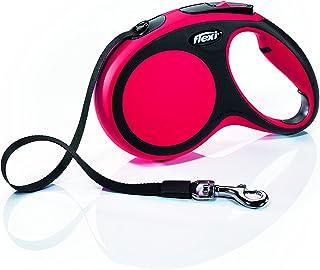 Flexi New Comfort Retractable Dog Leash (Tape), 16 ft, Medium, Red
