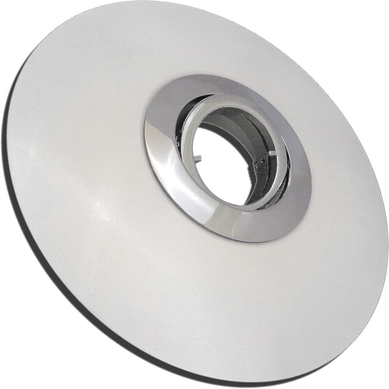 4 Stück Decken Einbaustrahler Big Lana 230 Volt Ohne Leuchtmittel Schwenkbar inkl. Fassung GU10 Chrom + Wei