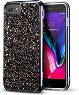 iPhone 8 Case, iPhone 7 Case, ESR Glitter Bling Hard Cover with Dual Layer Structure [Hard PC Back Outer + Soft TPU Inner] for Apple 4.7