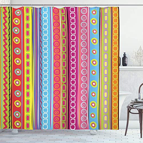 Bright Colored Shower Curtains Amazon Com