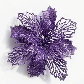 purple glitter flowers