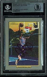 Knicks Jamal Crawford Signed Card 2006 Topps Turkey Red #139 BAS Slabbed